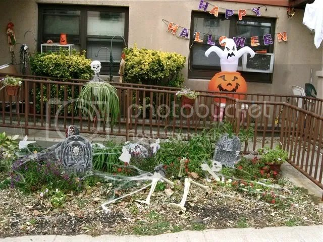 Halloween display in New Jersey