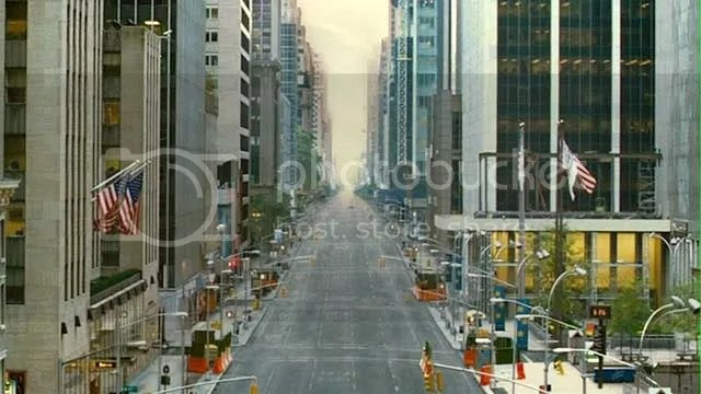 Ghost Town movie, opening shot, Sixth Avenue