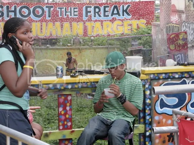 The freak texts his friend, Coney Island