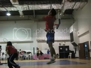 Insider badminton player.