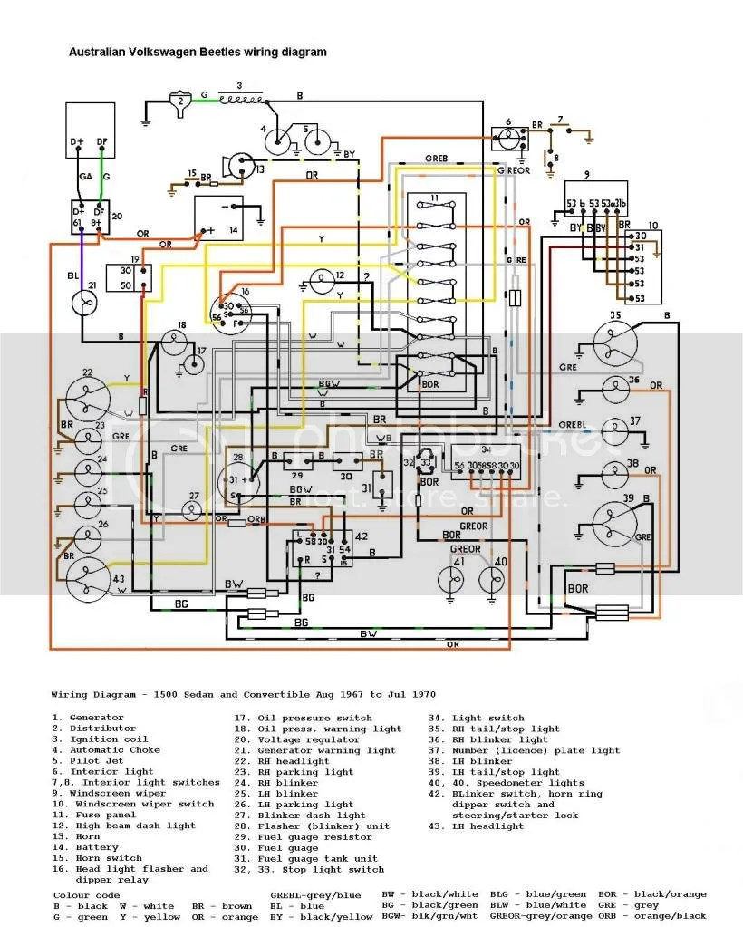 medium resolution of 1967 vw bug wiring harness wiring diagram centre 67 vw wiring harness