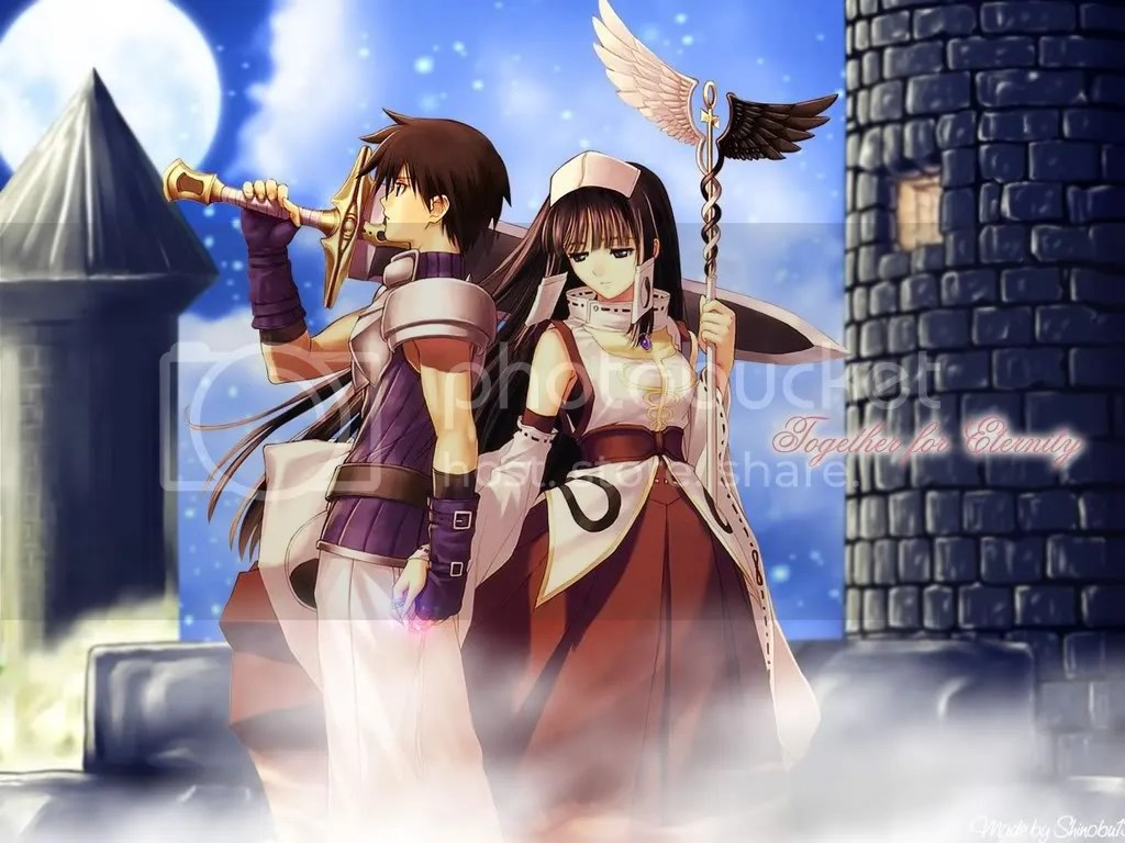 Anime Girl And Boy Couples Wallpapers Holding Hands At Castle Photo By Awakeningdawn Photobucket