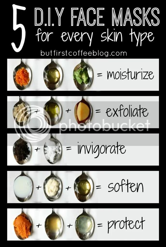 5 DIY Skin Masks for every skin type