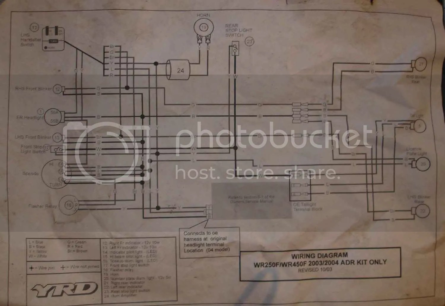 hight resolution of wr450 headlight wiring diagram wiring diagram img wr450 headlight wiring diagram 03 wr450f adr wiring diagrams