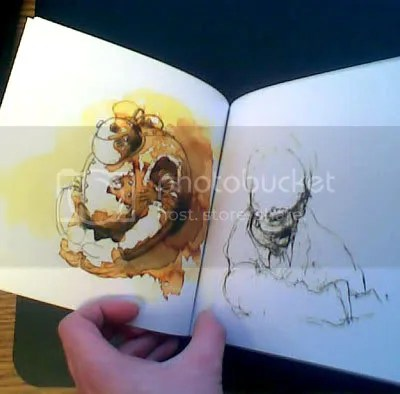 Another photo of inside Blurb book