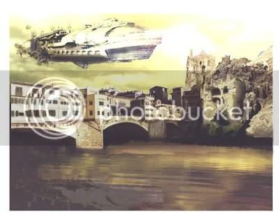 Photoshopped alien landscape