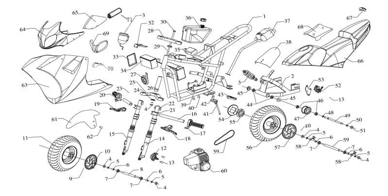 49cc scooter wiring diagram motorcycle review and galleries