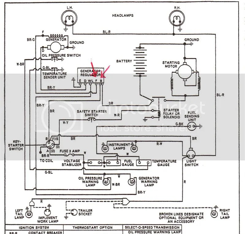 ford 3000 gas tractor wiring diagram 3 way lamp switch generator/voltage reg problems - yesterday's tractors (417123)