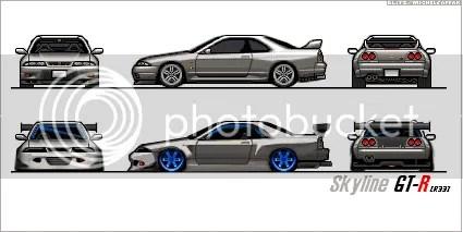 Pixel Car Art > GT race style gtr r33