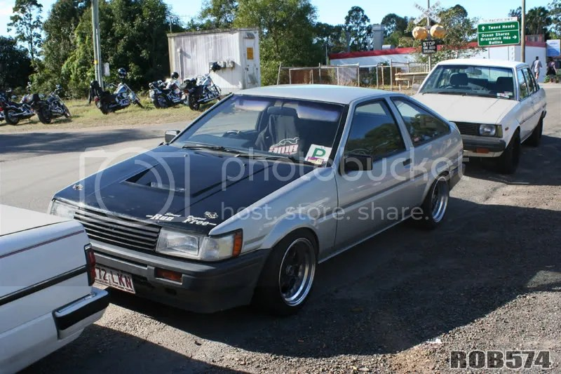 This Silver Ae86 featured a 7afe engine.