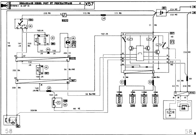 Schema electrique prechauffage renault express