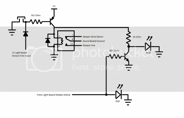 Wiring lights and sound without a DPDT button