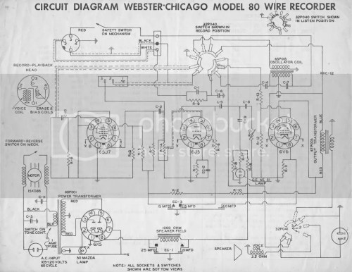 small resolution of how to start work on a webster 80 1 wire recorder uk vintage radio wire recorder