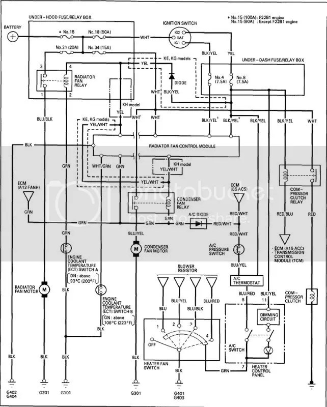 Wiring Diagram For 94 Honda Accord
