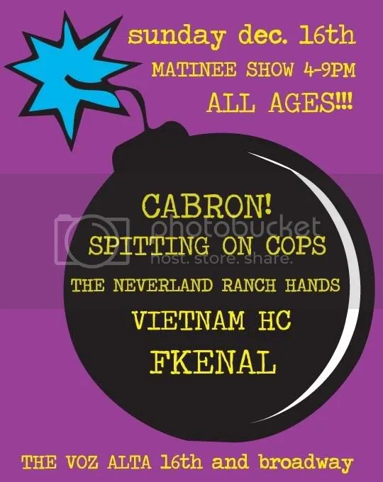 cabron fkenal spitting on cops neverland ranch hands vietnam hc live at voz alta