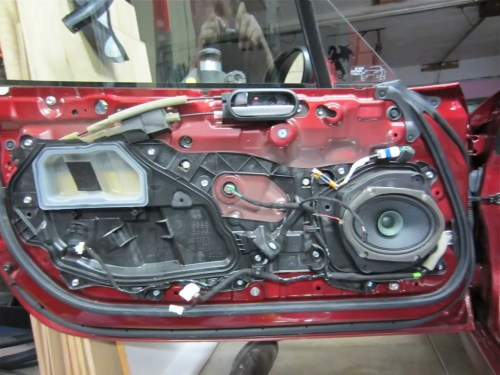 small resolution of it s all out in this pic the three shiny 10mm nuts below the round plug power window motor