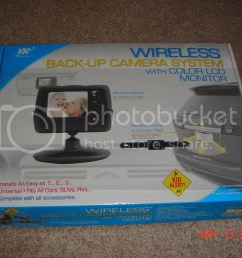 this is the camera system i picked up found it at walmart 113 just gotta hook up power wires for the camera and the monitor the wireless connection  [ 1024 x 768 Pixel ]