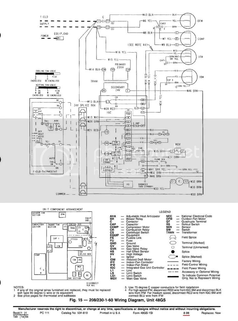 Wiring Schematic Diagram For Carrier Rooftop Unit : 49