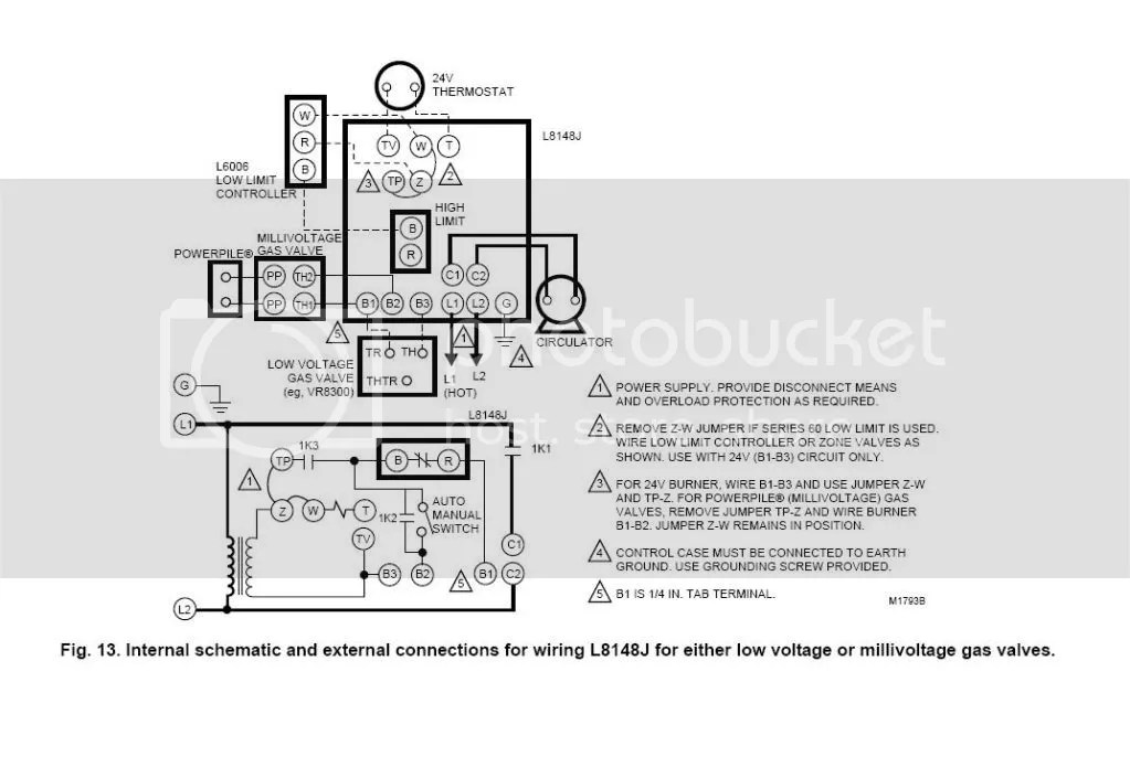 Honeywell V8043e1012 Wiring Diagram To Ra832a Honeywell