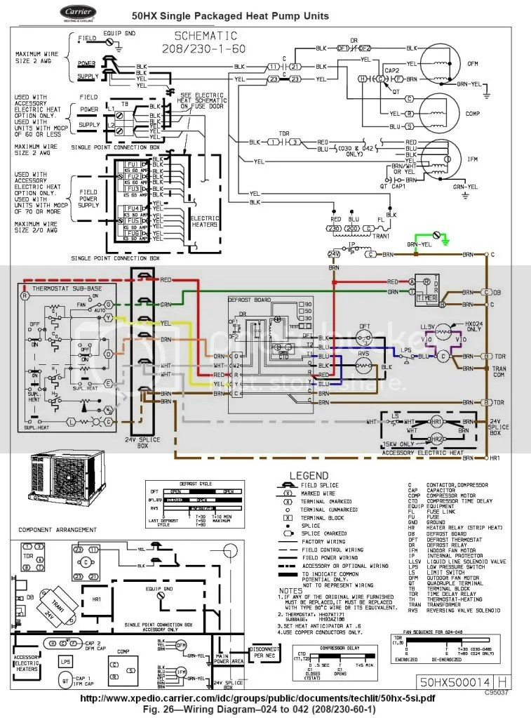Carrier50HX?resize=665%2C899 goodman heat pump defrost control wiring diagram wiring diagram goodman defrost board wiring diagram at pacquiaovsvargaslive.co