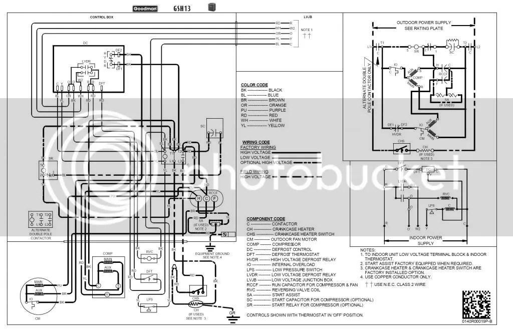 GoodmanGSH13_zpsdad42c36?resize=665%2C433 wiring diagram for goodman heat pump wiring diagram pcbdm133s wiring diagram at bayanpartner.co