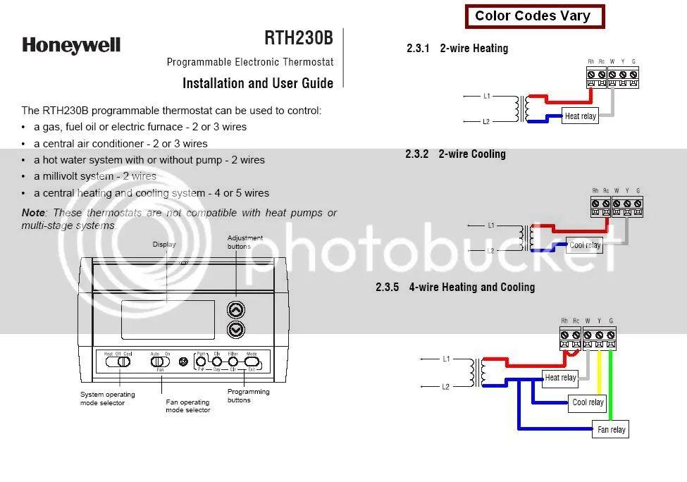 honeywell rth230b wiring diagram
