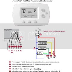 Trane Heat Pump Thermostat Wiring Diagram Toyota Tundra 2010 From A Baystat240 To Honeywell Focuspro 600 Model Th6110d1021 - Doityourself.com ...