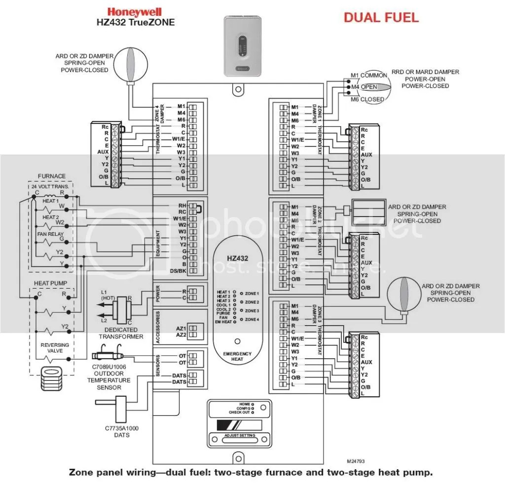 Wiring Diagram Honeywell Digital Thermostat Pro 3000