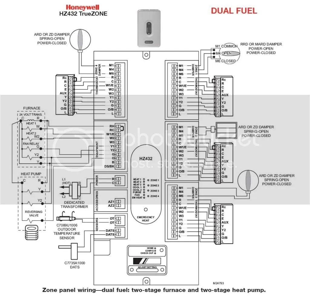 wire diagram for honeywell 8000 thermostat