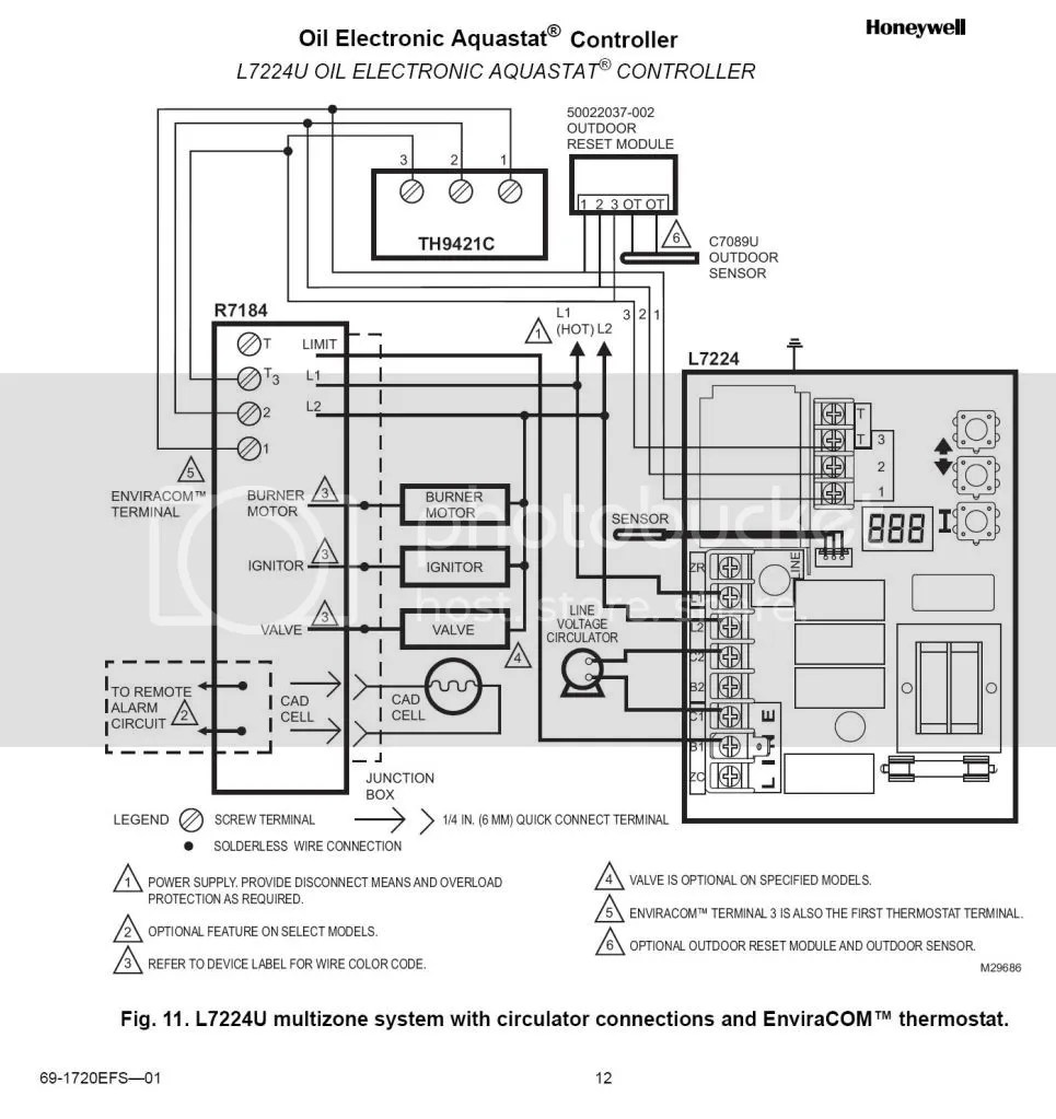 Honeywell Rth221b Thermostat Wiring Diagram, Honeywell