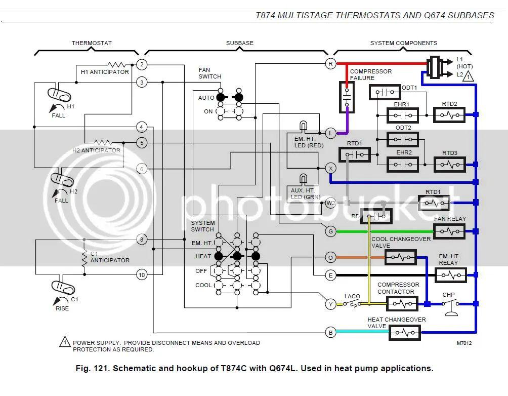 honeywell thermostat schematic