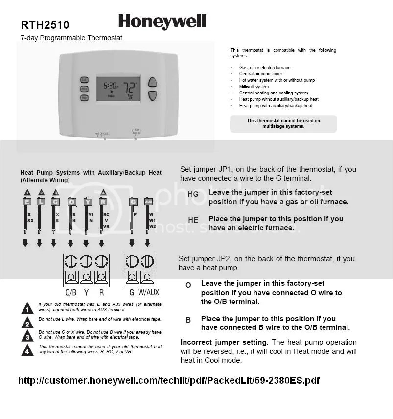 wiring diagram for honeywell thermostat rth2300 rth221 dometic rv refrigerator programmable - schemes