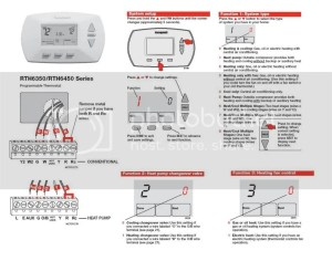Honeywell RTH6350 Wiring question  DoItYourself