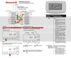 Help Wiring Honeywell RTH7600D with Heat Pump (with Em
