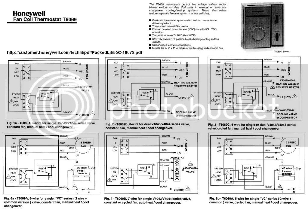 honeywell t stat wiring diagram