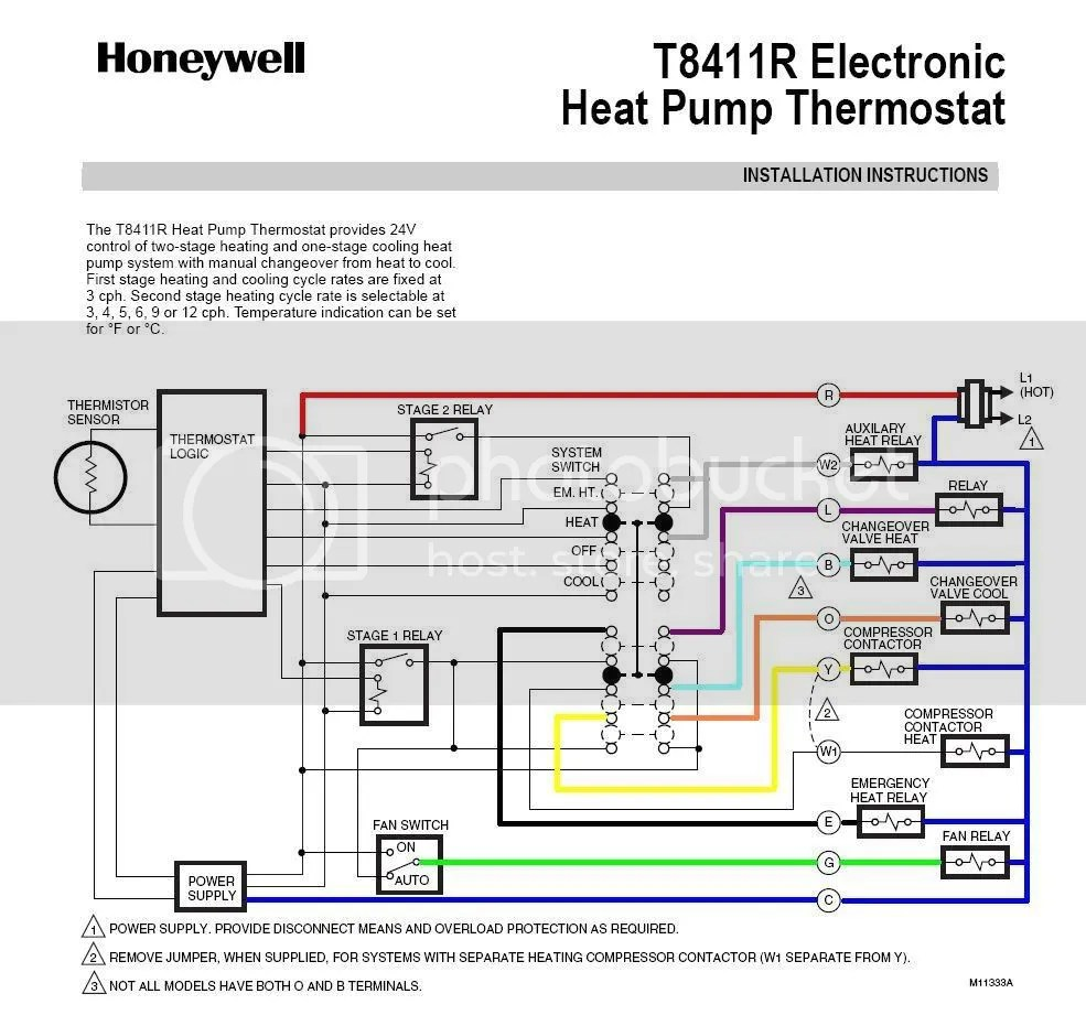wiring diagram for a honeywell thermostat unlabeled eye real t8411r schema to rth7600 question doityourself com th3210d1004