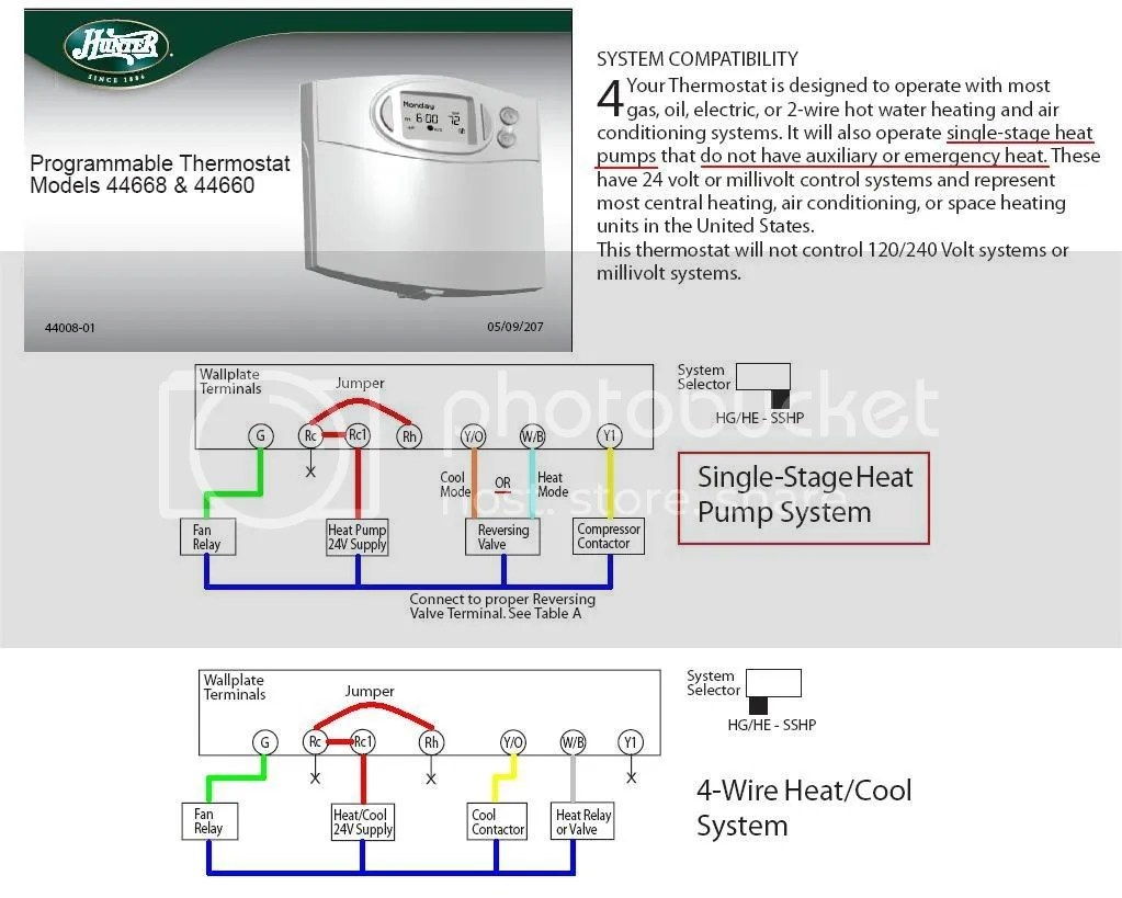 hight resolution of hunter 44760 thermostat wiring diagram