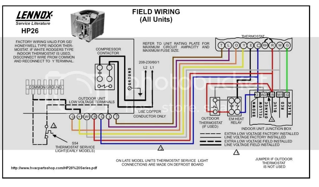 Lennox Heat Pump Wiring Diagram Lennox Xp20 Installation Manual