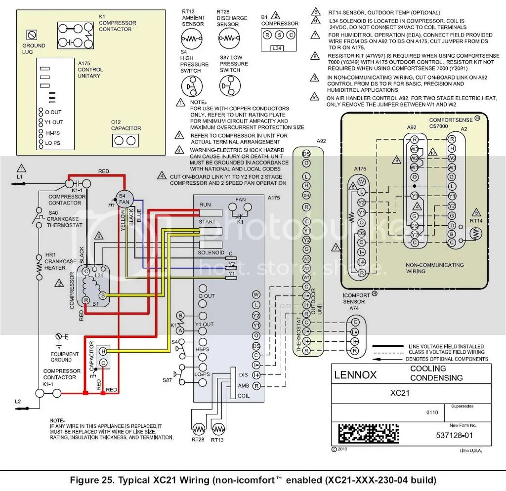 lennox wiring diagrams 2002 ford explorer cd player diagram xc21 26 images
