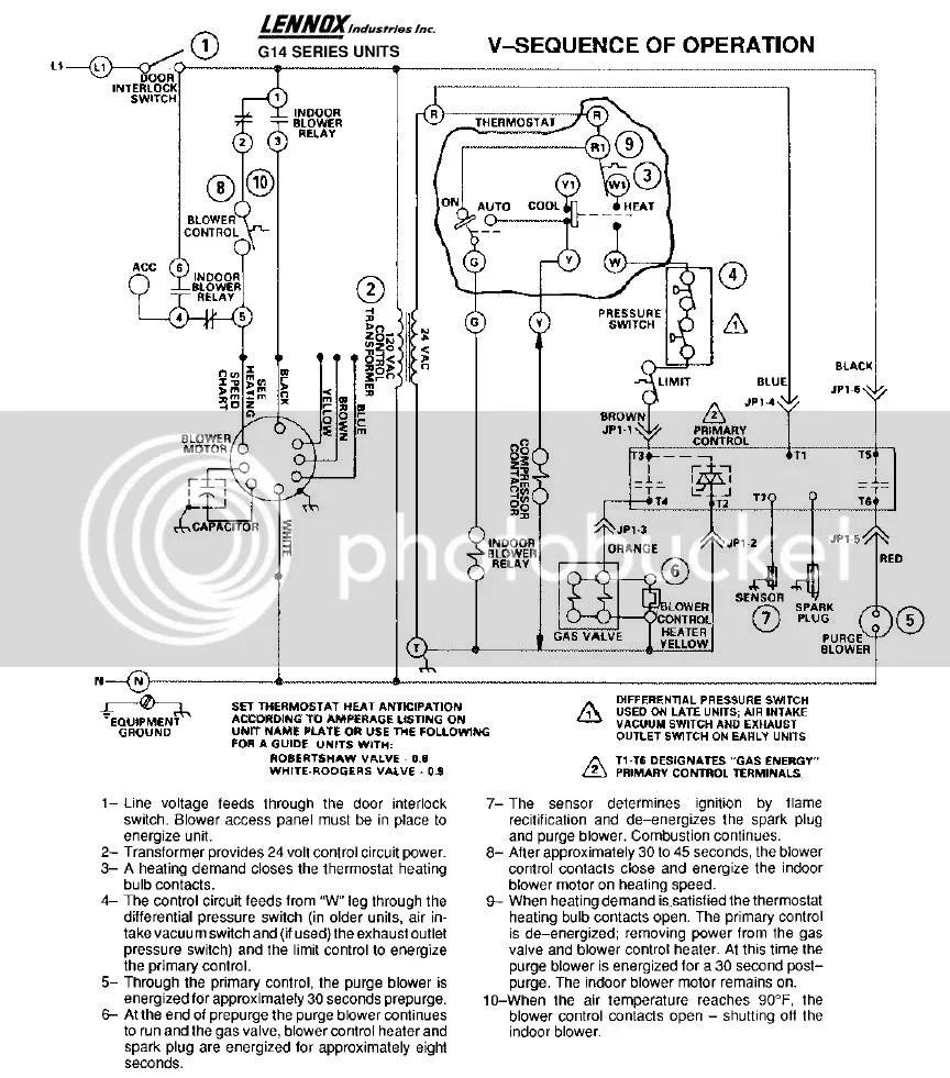 Lennox G12 Wiring Diagram Furnace   Repair Manual on