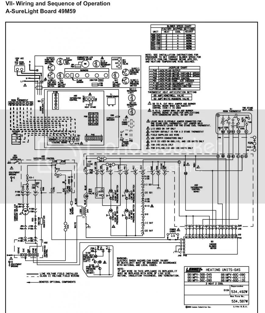 hight resolution of lennox g61mpv furnace schematic