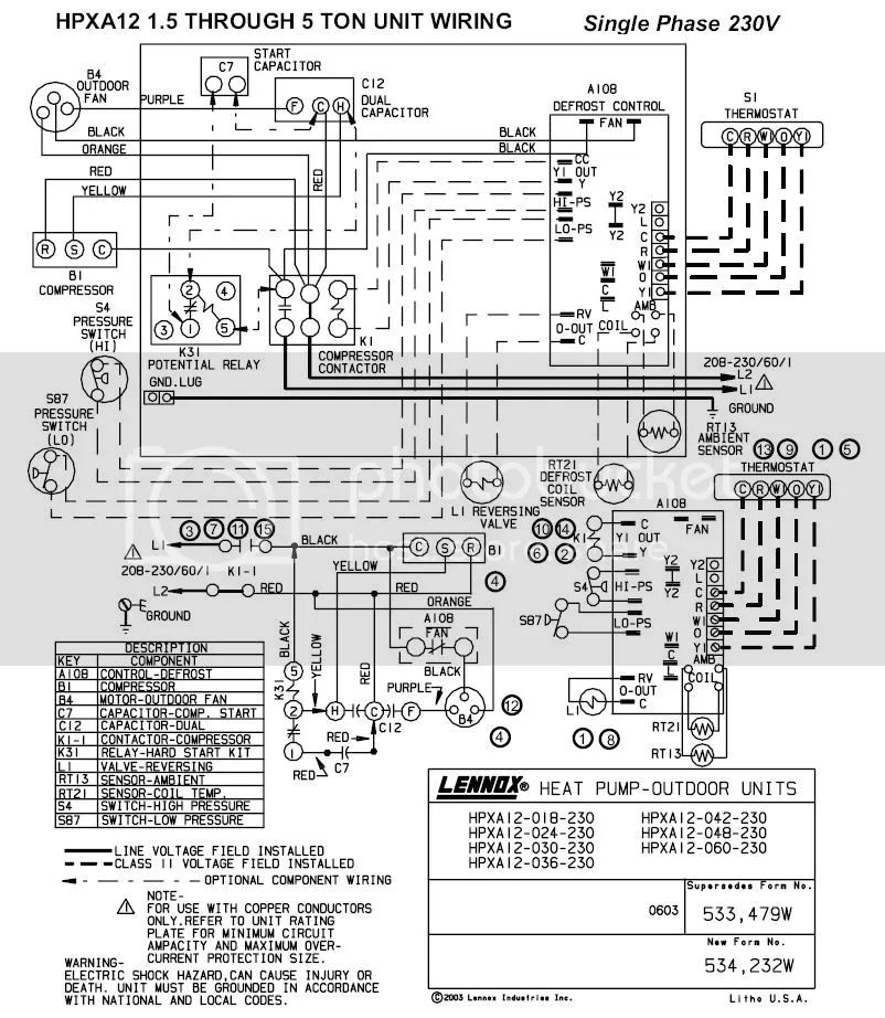 lennox heat pump wire diagram