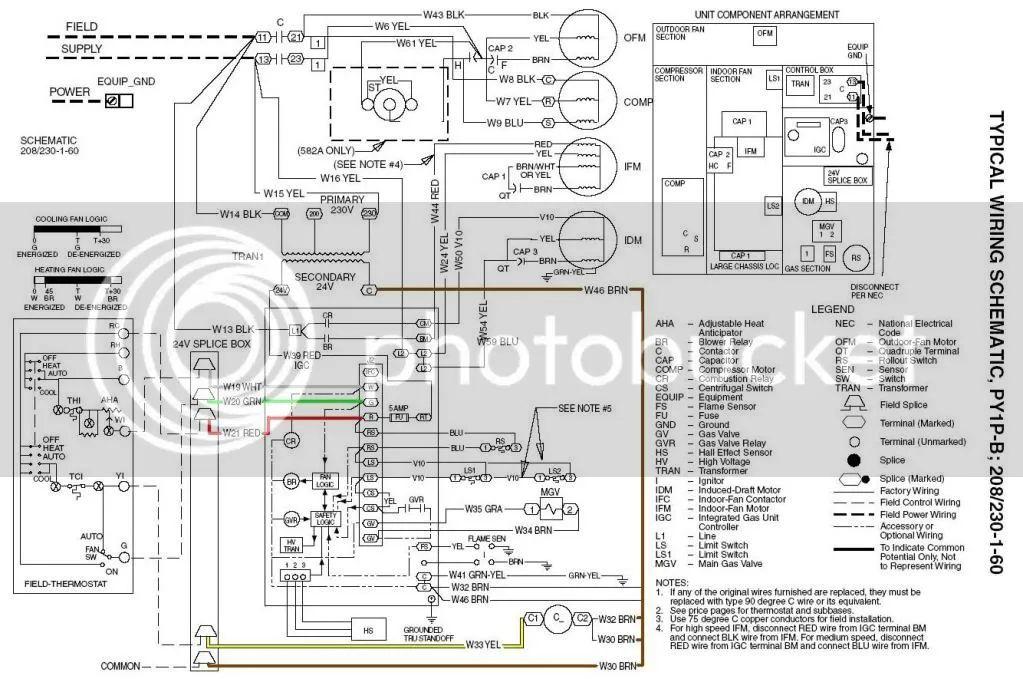 trane intellipak wiring schematic