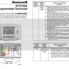 Wiring Diagram For A Honeywell Thermostat 2005 Honda Accord Stereo Installing Rth7500d Doityourself Com