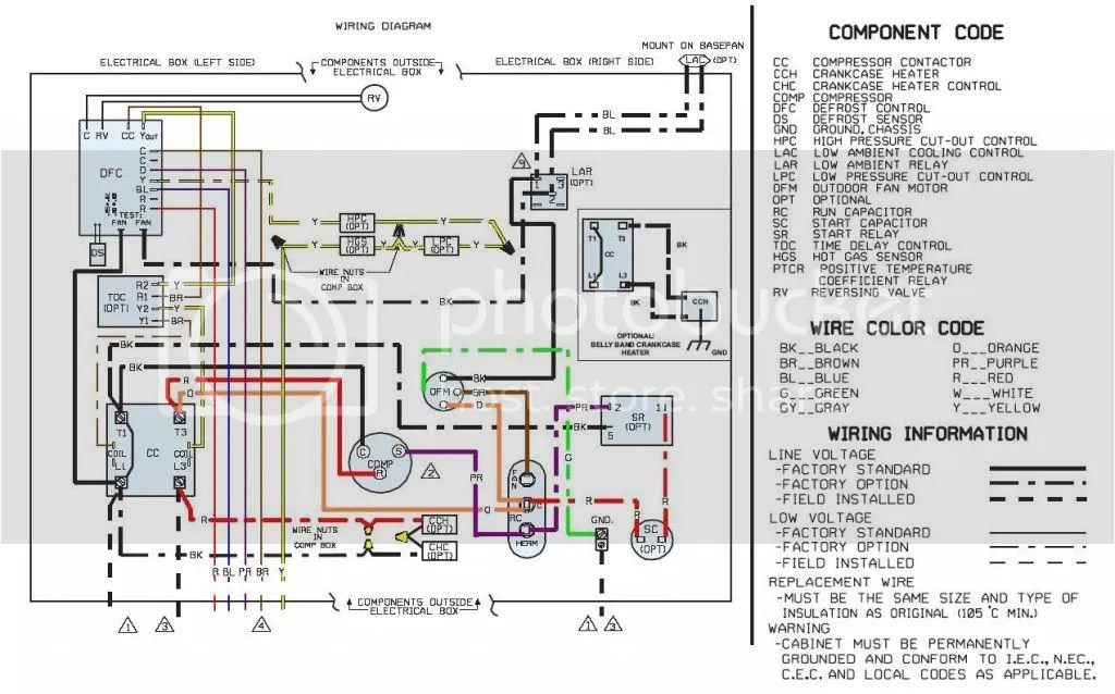 Rheem13seerheatpump_zps9e3280d0 wiring diagram for rheem heat pump yhgfdmuor net rheem heat pump wiring diagram at panicattacktreatment.co