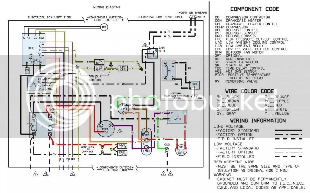 lennox heat pump thermostat wiring diagram 93 chevy 1500 starter ruud schematic rheem condenser fan diagrams instructrheem 13pjl series runs continuously doityourself goodman