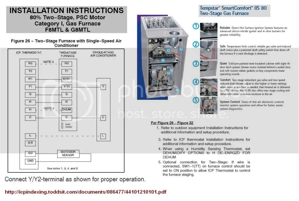 tempstar gas furnace wiring diagram hotpoint fridge thermostat 2 stage furnance and a/c - two works? doityourself.com community forums