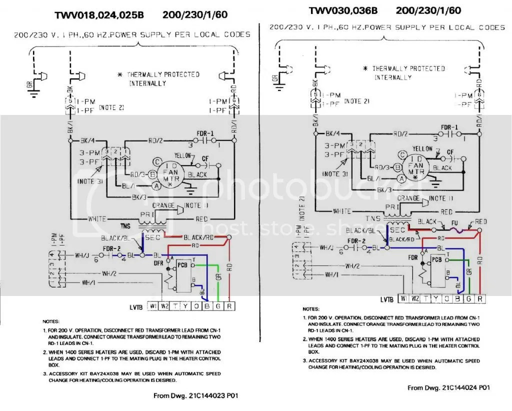trane voyager thermostat wiring diagram 24 volt for trolling motor ycd package units
