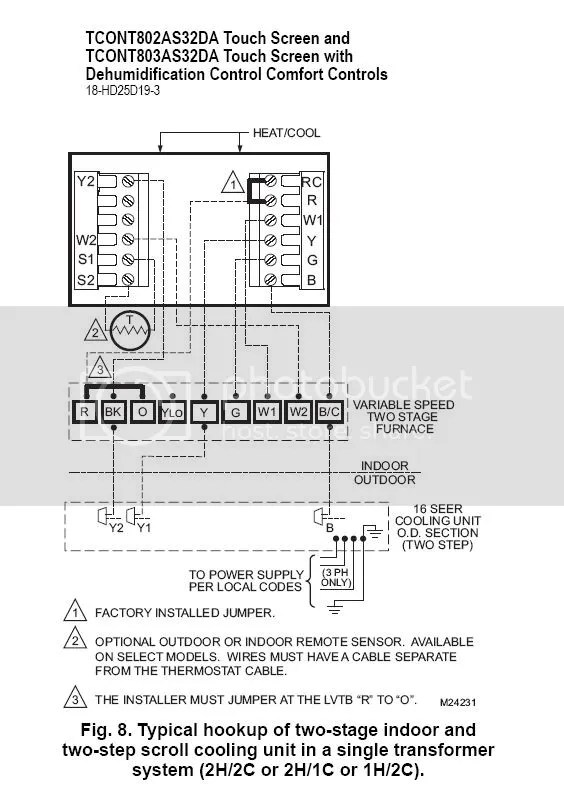 American Standard Heat Pump Thermostat Wiring Diagram Trane Thermostat Connections Doityourself Com Community