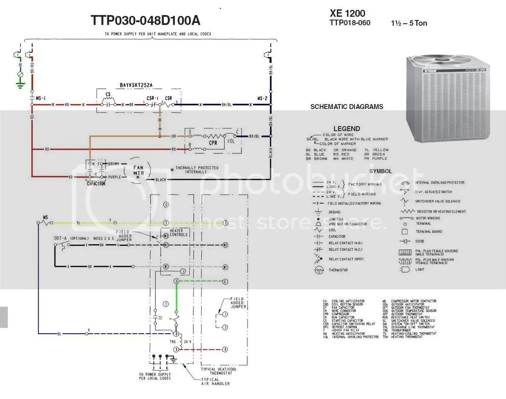 hight resolution of trane heat pump crankcase heater wiring diagram wiring diagramsoutside ac fan not spinning buzzing sound